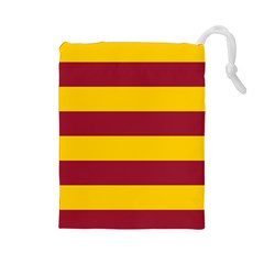 Oswald s Stripes Red Yellow Drawstring Pouches (large)