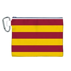 Oswald s Stripes Red Yellow Canvas Cosmetic Bag (L)