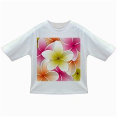 Frangipani Flower Floral White Pink Yellow Infant/Toddler T-Shirts