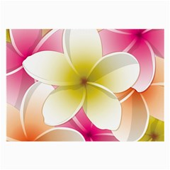 Frangipani Flower Floral White Pink Yellow Large Glasses Cloth