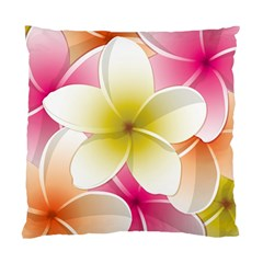 Frangipani Flower Floral White Pink Yellow Standard Cushion Case (One Side)