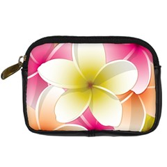 Frangipani Flower Floral White Pink Yellow Digital Camera Cases
