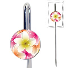 Frangipani Flower Floral White Pink Yellow Book Mark