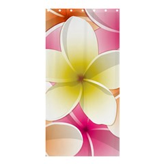 Frangipani Flower Floral White Pink Yellow Shower Curtain 36  x 72  (Stall)