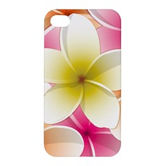 Frangipani Flower Floral White Pink Yellow Apple iPhone 4/4S Premium Hardshell Case