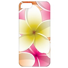 Frangipani Flower Floral White Pink Yellow Apple iPhone 5 Classic Hardshell Case