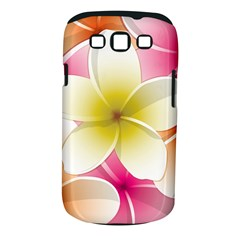 Frangipani Flower Floral White Pink Yellow Samsung Galaxy S III Classic Hardshell Case (PC+Silicone)