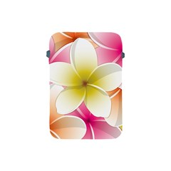 Frangipani Flower Floral White Pink Yellow Apple iPad Mini Protective Soft Cases