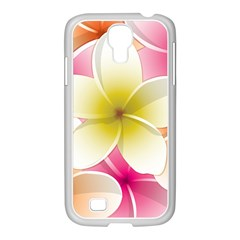 Frangipani Flower Floral White Pink Yellow Samsung GALAXY S4 I9500/ I9505 Case (White)