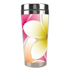Frangipani Flower Floral White Pink Yellow Stainless Steel Travel Tumblers