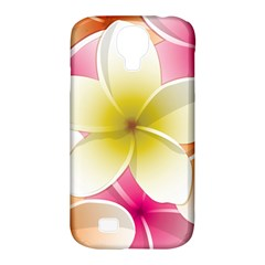 Frangipani Flower Floral White Pink Yellow Samsung Galaxy S4 Classic Hardshell Case (PC+Silicone)