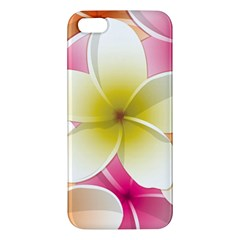 Frangipani Flower Floral White Pink Yellow iPhone 5S/ SE Premium Hardshell Case