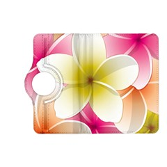 Frangipani Flower Floral White Pink Yellow Kindle Fire HD (2013) Flip 360 Case