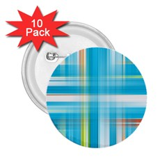 Lines Blue Stripes 2.25  Buttons (10 pack)