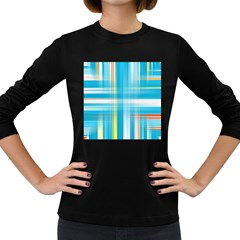 Lines Blue Stripes Women s Long Sleeve Dark T-Shirts