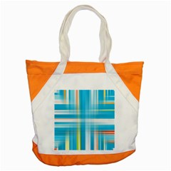 Lines Blue Stripes Accent Tote Bag