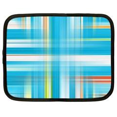 Lines Blue Stripes Netbook Case (Large)