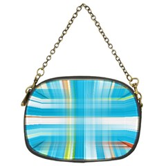 Lines Blue Stripes Chain Purses (Two Sides)