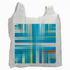 Lines Blue Stripes Recycle Bag (Two Side)