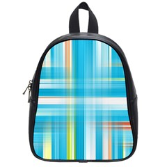 Lines Blue Stripes School Bags (Small)