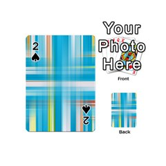 Lines Blue Stripes Playing Cards 54 (Mini)