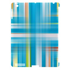 Lines Blue Stripes Apple iPad 3/4 Hardshell Case (Compatible with Smart Cover)