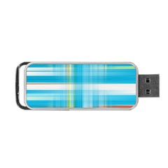 Lines Blue Stripes Portable USB Flash (One Side)