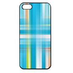 Lines Blue Stripes Apple iPhone 5 Seamless Case (Black)