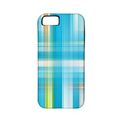 Lines Blue Stripes Apple iPhone 5 Classic Hardshell Case (PC+Silicone)
