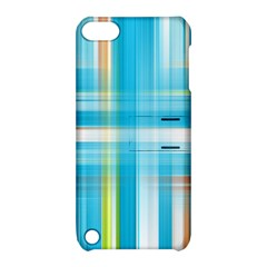 Lines Blue Stripes Apple iPod Touch 5 Hardshell Case with Stand