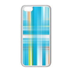 Lines Blue Stripes Apple iPhone 5C Seamless Case (White)