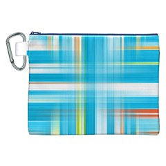 Lines Blue Stripes Canvas Cosmetic Bag (XXL)