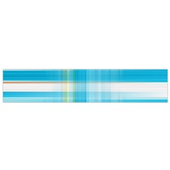 Lines Blue Stripes Flano Scarf (Small)