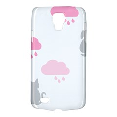 Raining Cats Dogs White Pink Cloud Rain Galaxy S4 Active