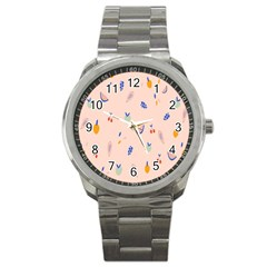 Papaya Apple Cherry Wine Fruit Pink Purple Sport Metal Watch