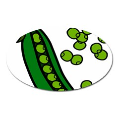 Peas Green Peanute Circle Oval Magnet