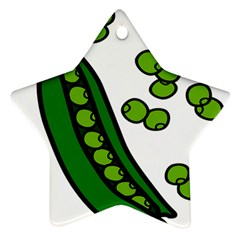 Peas Green Peanute Circle Star Ornament (Two Sides)
