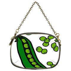 Peas Green Peanute Circle Chain Purses (Two Sides)