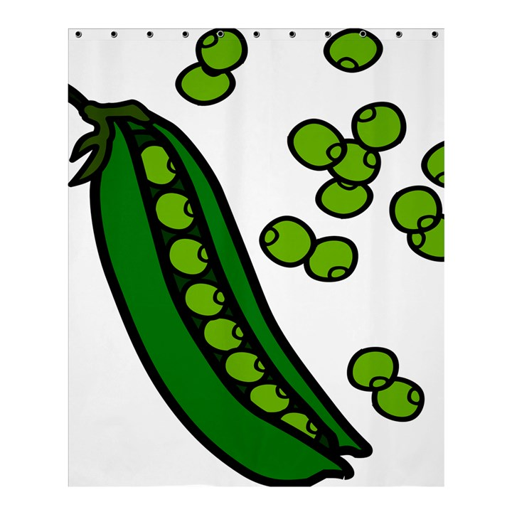 Peas Green Peanute Circle Shower Curtain 60  x 72  (Medium)