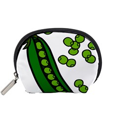 Peas Green Peanute Circle Accessory Pouches (Small)