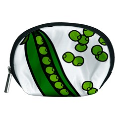 Peas Green Peanute Circle Accessory Pouches (Medium)