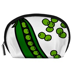 Peas Green Peanute Circle Accessory Pouches (Large)