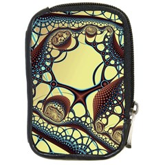 Labels Net Circle Brown Compact Camera Cases
