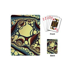 Labels Net Circle Brown Playing Cards (Mini)