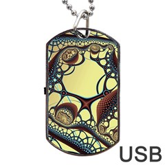 Labels Net Circle Brown Dog Tag USB Flash (One Side)