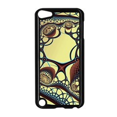 Labels Net Circle Brown Apple iPod Touch 5 Case (Black)