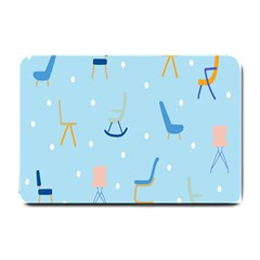 Seat Blue Polka Dot Small Doormat