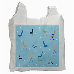 Seat Blue Polka Dot Recycle Bag (Two Side)