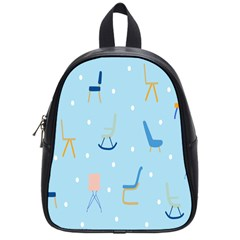 Seat Blue Polka Dot School Bags (Small)