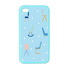 Seat Blue Polka Dot Apple iPhone 4 Case (Color)